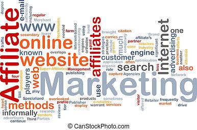 маркетинг, слово, филиал, облако