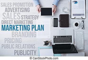 маркетинг, concepts, офис, бизнес, рабочий стол