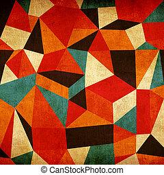 марочный, абстрактные, красочный, задний план