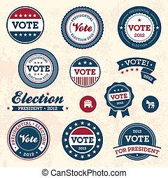 марочный, выборы, badges