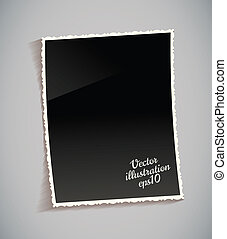 марочный, рамка, таблица, пустой, фото