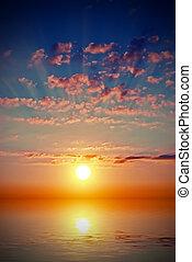 марочный, стиль, закат солнца, sea.