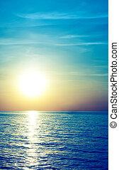 марочный, стиль, мягкий, море, sunset.