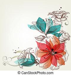 марочный, цветы, задний план