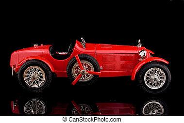 марочный, черный, красный, задний план, автомобиль