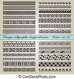 марочный, elements, дизайн, каллиграфический