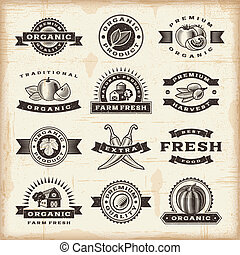 марочный, stamps, задавать, уборка урожая, органический