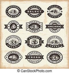 марочный, stamps, сельское хозяйство, органический, задавать