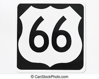 маршрут, 66, дорога, знак