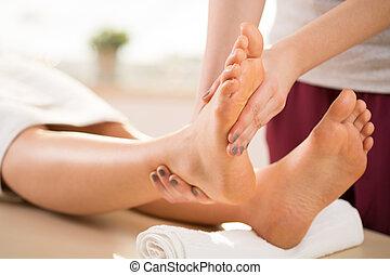 массажист, массаж, нога