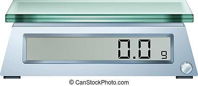 масштаб, weighing, цифровой