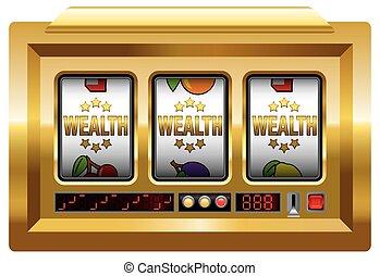 машина, слот, богатство