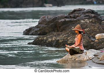 медитация, ganga
