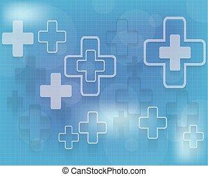 медицинская, абстрактные, вектор, задний план, иллюстрация
