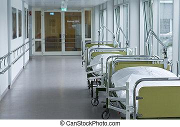 медицинская, больница, коридор, комната