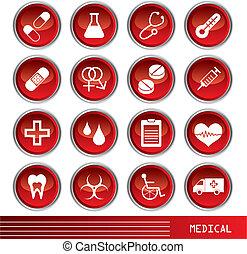 медицинская, задавать, icons