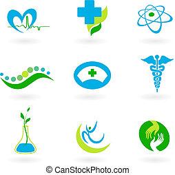 медицинская, коллекция, icons