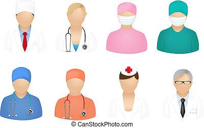 медицинская, люди, icons
