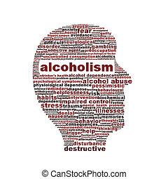 медицинская, символ, белый, isolated, алкоголизм