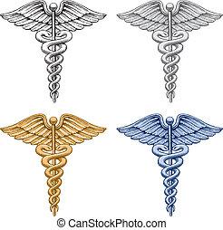 медицинская, символ, кадуцей
