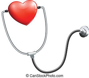 медицинская, стетоскоп