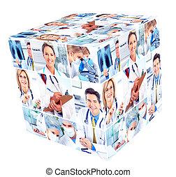 медицинская, group., люди