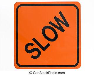 медленный, дорога, знак