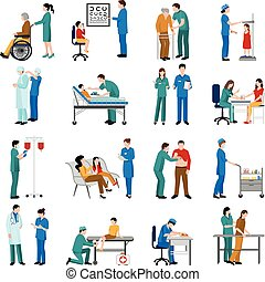 медсестра, задавать, icons
