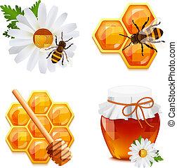 мед, задавать, icons