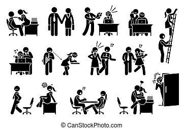 между, отношения, офис, дело, заигрывание, люблю, workers., колорадо