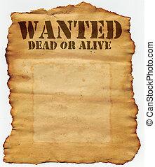 мертвый, разыскивается, или, в живых