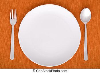 место, dinner-plate, крупным планом, настройка