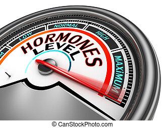 метр, hormones, уровень, концептуальный