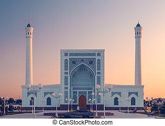 мечеть, портал, закат солнца