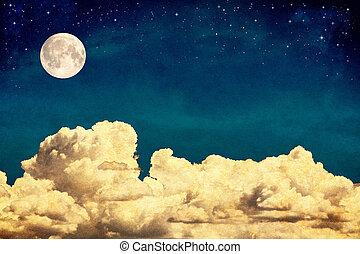 мечта, clouds, луна