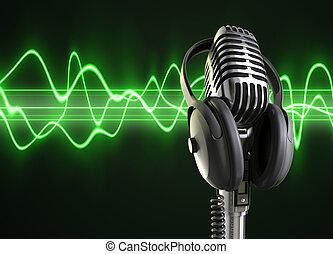 микрофон, аудио, waves, &
