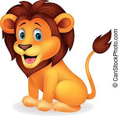 милый, лев, мультфильм