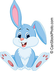милый, мультфильм, кролик
