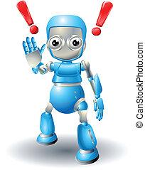 милый, осторожность, робот, персонаж