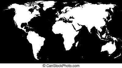 мир, белый, черный, &