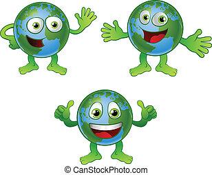 мир, земной шар, персонаж, мультфильм