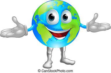 мир, земной шар, персонаж