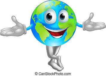 мир, земной шар, талисман, человек