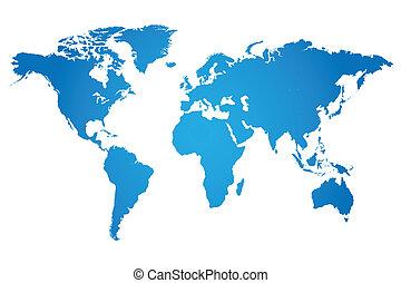 мир, иллюстрация, карта