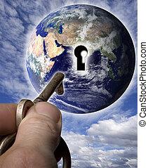 мир, ключ