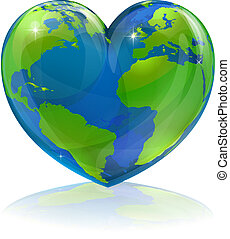 мир, концепция, люблю, сердце
