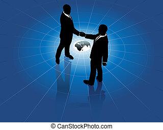 мир, люди, рукопожатие, бизнес, глобальный, соглашение