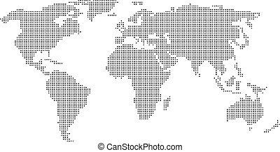 мир, пунктирный, карта