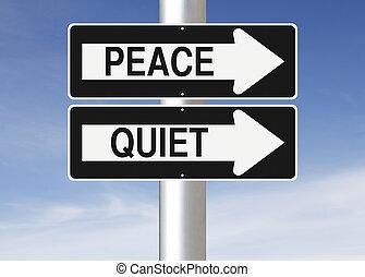 мир, тихо