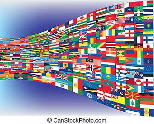 мир, flags